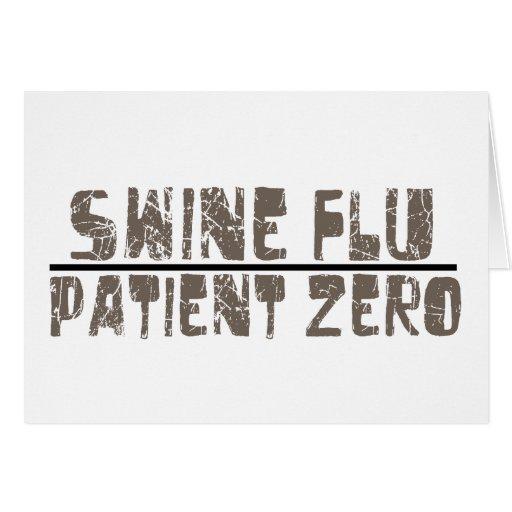 swine flu patient zero greeting card