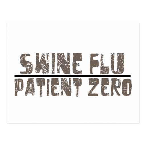 swine flu patient zero post card