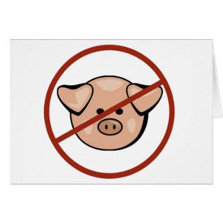 Swine Flu / Pork Greeting Card