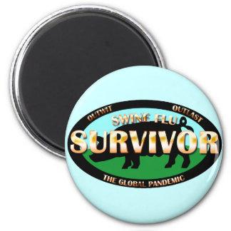 Swine Flu Survivor 6 Cm Round Magnet