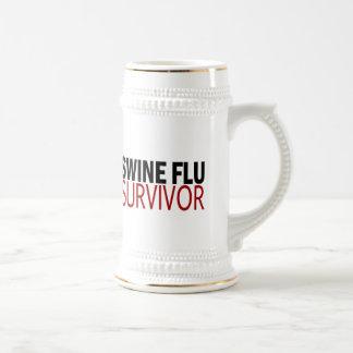 Swine Flu Survivor Beer Steins