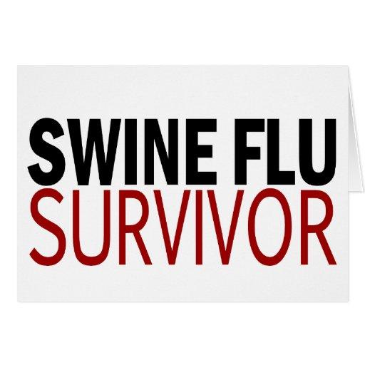 Swine Flu Survivor Greeting Cards