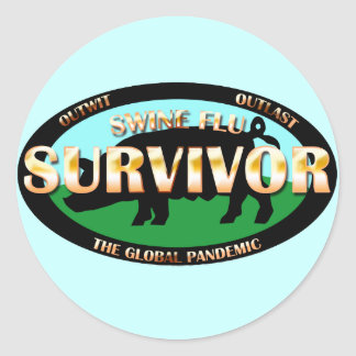 Swine Flu Survivor Classic Round Sticker