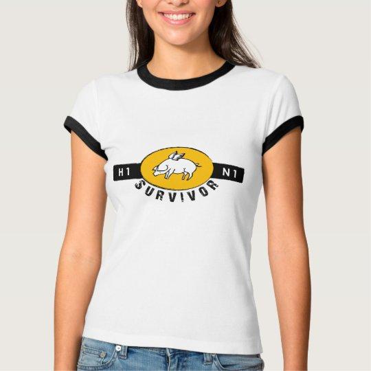 Swine Flu Survivor - Gold T-Shirt