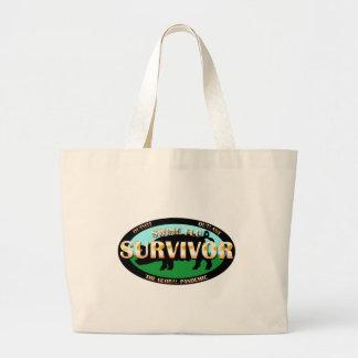 Swine Flu Survivor Jumbo Tote Bag