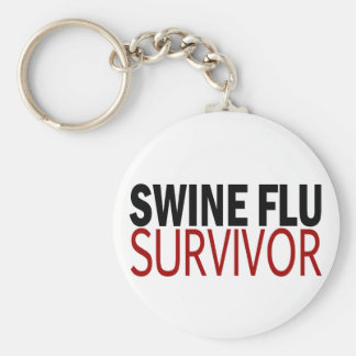 Swine Flu Survivor Key Ring