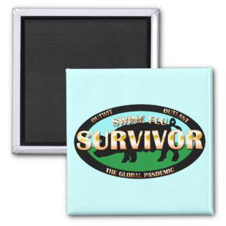 Swine Flu Survivor Magnets
