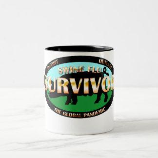 Swine Flu Survivor Two-Tone Coffee Mug