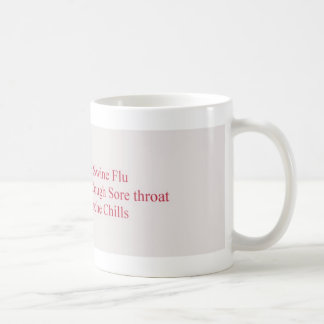 swine flu symptoms basic white mug