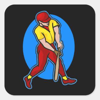 swing batter square sticker