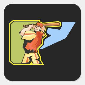 swing batter swing square sticker