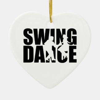 Swing dance ceramic heart decoration