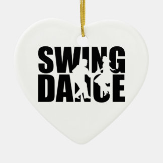 Swing dance christmas ornament