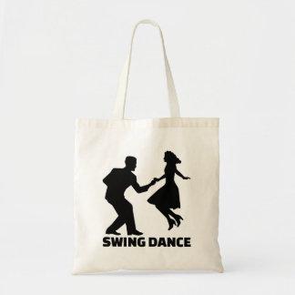 Swing dance tote bag