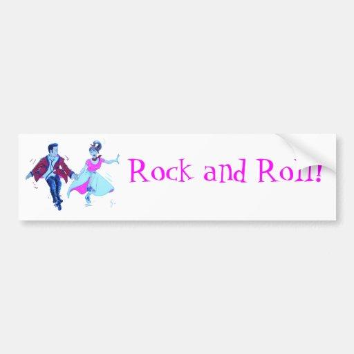 swing dancer pink poodle skirt saddle shoes bumper sticker