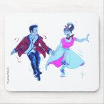 swing dancer pink poodle skirt saddle shoes mousepad