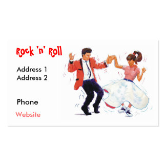 swing dancer with poodle skirt and saddle shoes po pack of standard business cards