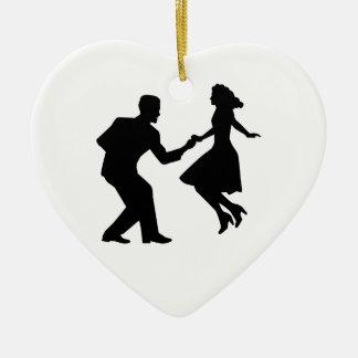 Swing dancing christmas ornament