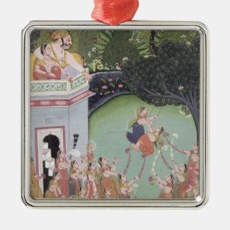 Swing Festival Silver-Colored Square Decoration