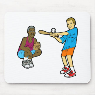 Swing for the ball with catcher mouse pad