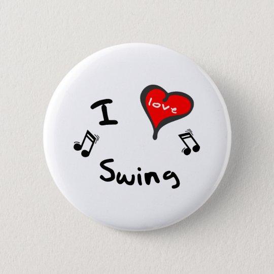 Swing Gifts - I Heart Swing 6 Cm Round Badge