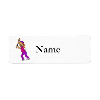 Swing Girl Return Address Label