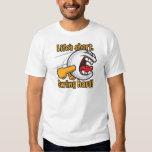 Swing Hard Funny Cartoon Golf Ball Tshirts