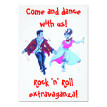 "swing rock and roll dance invitation 5"" x 7"" invitation card"
