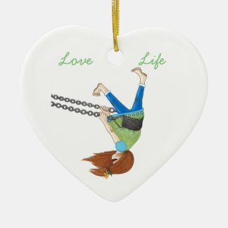 Swing Time Heart Ornament