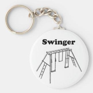 Swinger Basic Round Button Key Ring