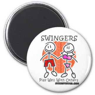 Swingers Play Well Together 6 Cm Round Magnet