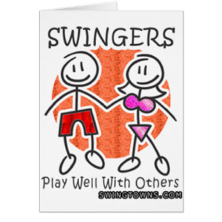 Swingers Play Well Together Greeting Card