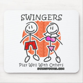 Swingers Play Well Together Mouse Mat