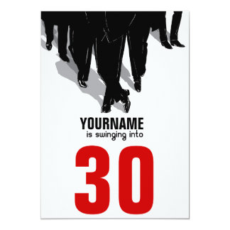 Swingers Rat Pack 30th Birthday Party Card