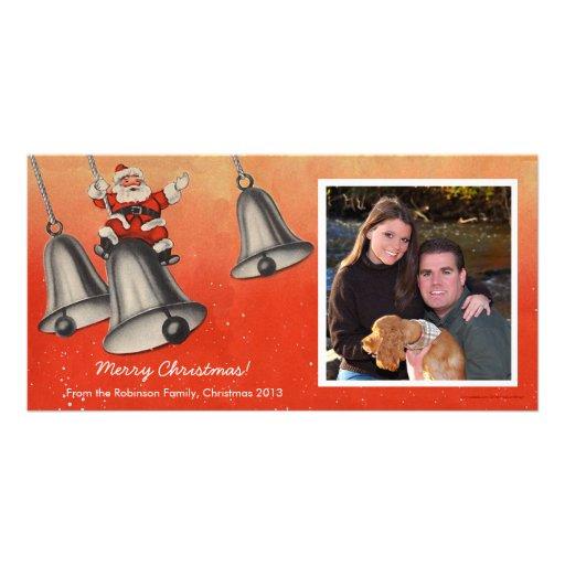 Swingin Santa Christmas Photo Cards