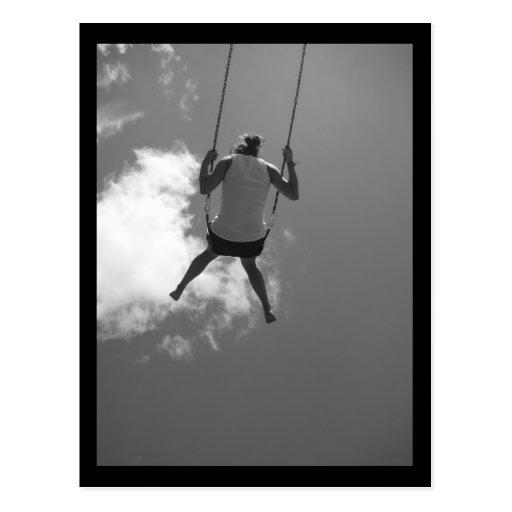 Swinging in the Sky Postcard