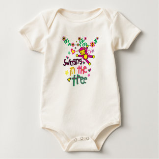 Swinging in the tree baby bodysuit