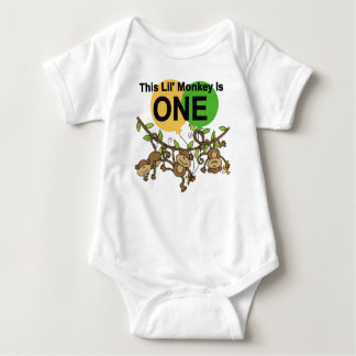 Swinging Monkeys 1st Birthday t shirts and Gifts