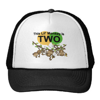 Swinging Monkeys 2nd Birthday T-shirts and Gifts Cap