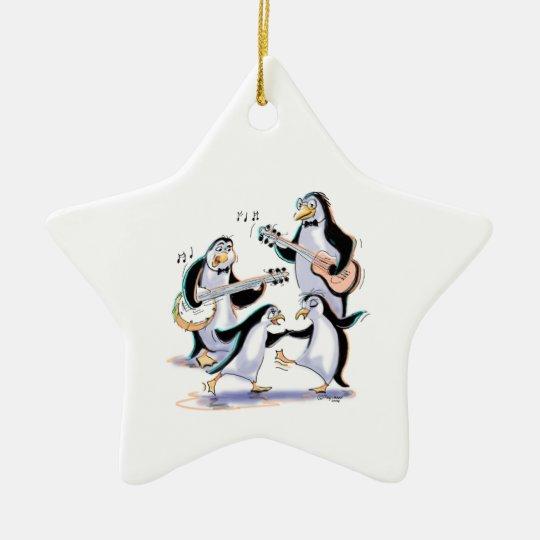 SwInGiNg PeNgUiNs Christmas Ornament