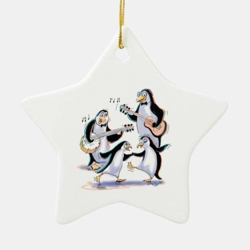 SwInGiNg PeNgUiNs Christmas Tree Ornament