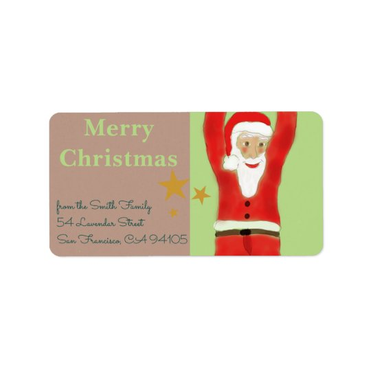Swinging Santa Address Label