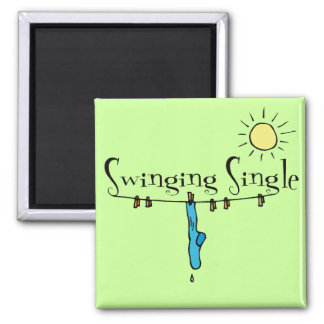 Swinging Single Singles Gear Fridge Magnets