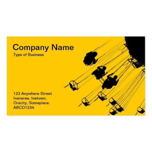 Swings and Roundabouts - Amber Business Cards