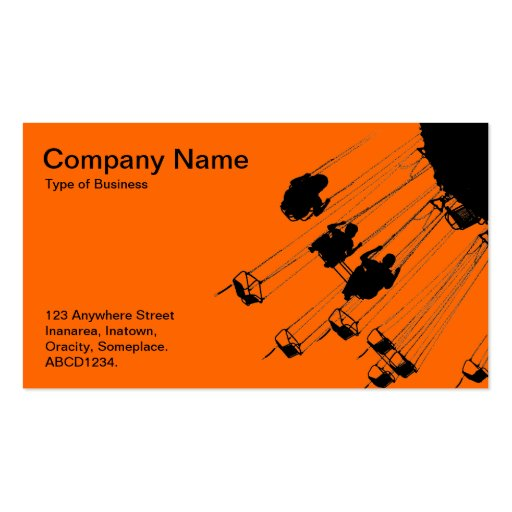Swings and Roundabouts - Orange Business Card Templates