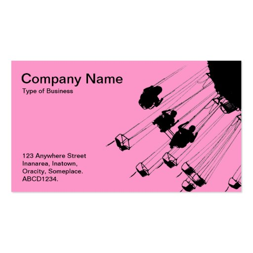Swings and Roundabouts - Pink Business Card Templates