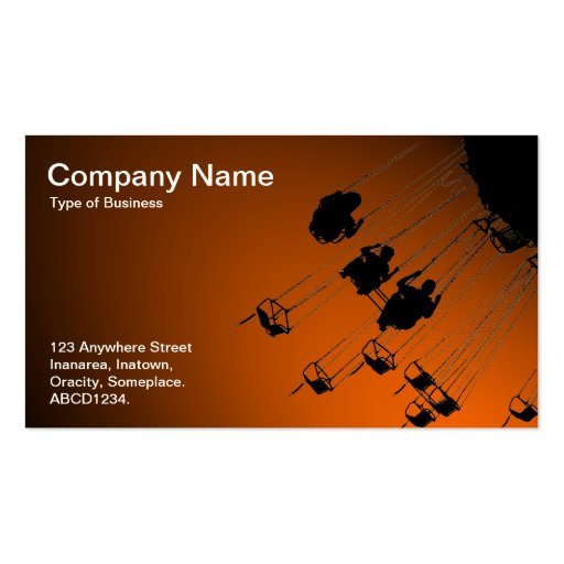 Swings and Roundabouts - Spotlit Orange Business Card