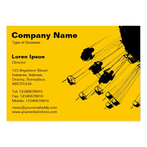 Swings and Roundabouts v2 - Amber Business Card