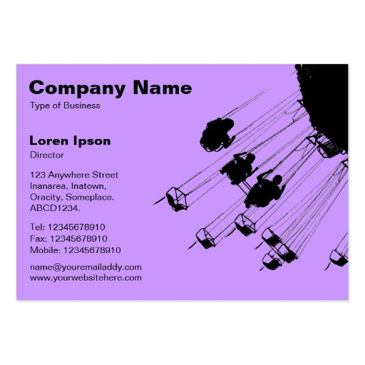 Swings and Roundabouts v2 - Lilac Business Card