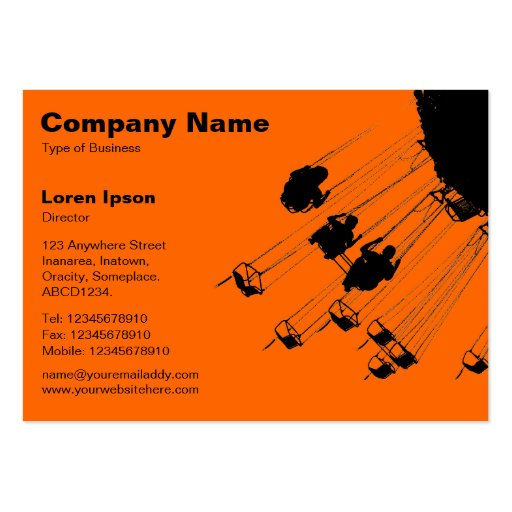 Swings and Roundabouts v2 - Orange Business Card Template